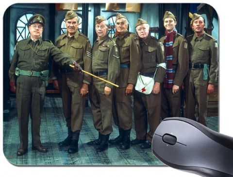 Dads Army Mouse Mat. Classic British 70's Television Show Mouse Pad